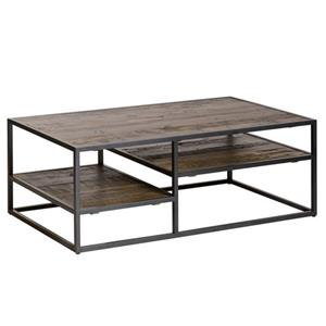 Vince Salontafel 120 X 70 cm - Bruin - metalen frame