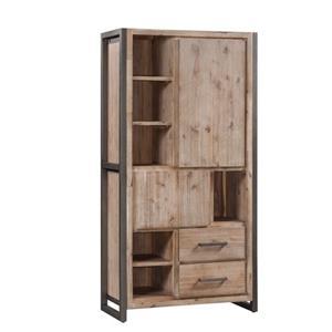 Bruce High - Bergkast - 100 cm - bruin - metalen frame