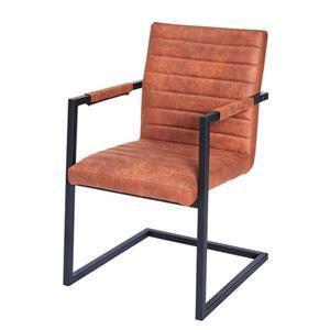 Ray Armstoel - Cognac  - metalen frame