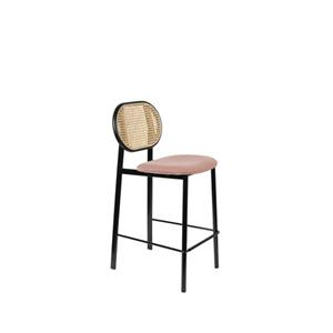 COUNTER STOOL SPIKE NATURAL/PINK