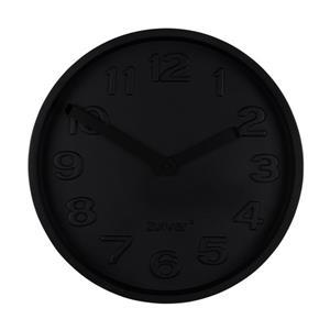 CLOCK CONCRETE TIME ALL BLACK