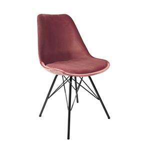 Kick kuipstoel Velvet Roze - Zwart frame
