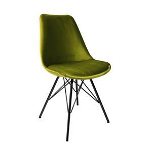 Kick kuipstoel Velvet Groen - Zwart frame