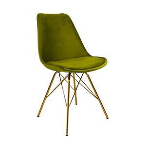 Kick kuipstoel Velvet Groen - Goud frame
