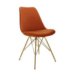 Kick kuipstoel Velvet Oranje - Goud frame