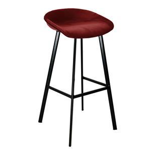 Barkruk Finn Hoog - Velvet rood