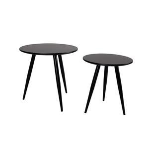SIDE TABLE DAVEN BLACK SET OF