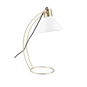 DESK LAMP CURLY WHITE