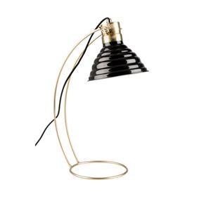 DESK LAMP CURLY BLACK