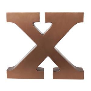 ALFABET LETTER X COPPER